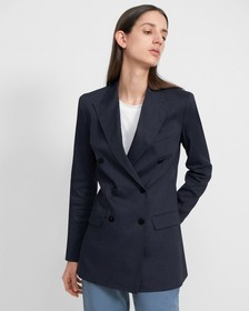 Double-Breasted Blazer in Good Linen