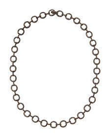 Bavna Diamond Circle-Link Necklace