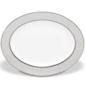 "Lenox Pearl Beads™ 16"" Oval Serving Platter"