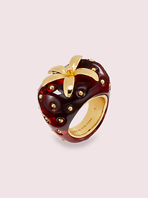 Kate Spade tutti fruity strawberry ring
