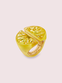 Kate Spade tutti fruity lemon ring