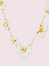 Kate Spade precious pansy scatter necklace