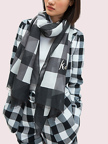 Kate Spade party plaid oblong scarf