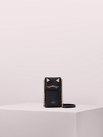 Kate Spade north south cat crossbody iPhone case