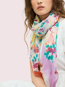 Kate Spade painted petals oblong scarf