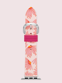 Kate Spade pink floral-print silicone 38/40mm band