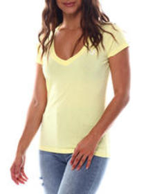 True Religion double puf rounded v neck