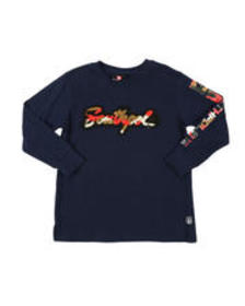 Southpole camo chenille patch long sleeve tee (4-7