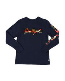 Southpole camo chenille patch long sleeve tee (8-2