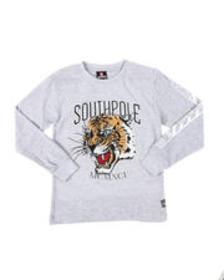 Southpole lion graphic long sleeve thermal shirt (