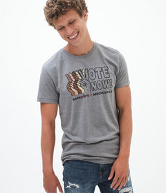 Aeropostale Rock The Vote Vote Now Graphic Tee