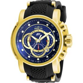 InvictaS1 Rally Blue Dial Gold-plated Stainless St