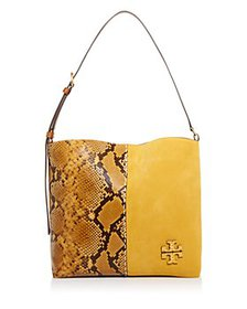 Tory Burch - McGraw Snake-Embossed Leather & Suede