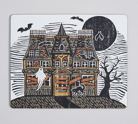 Pottery Barn Haunted House Cork Placemats - Set of