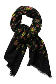 GUCCI Floral Woven Wool Scarf