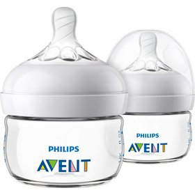 Philips Avent Natural Baby Bottle, Clear, 2oz, 2pk