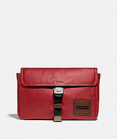 Coach pacer belt bag crossbody with coach patch
