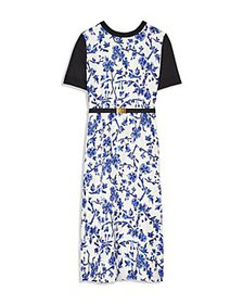 Tory Burch - Greer Floral Print Belted Midi Dress