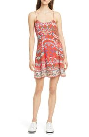 alice + olivia Ira Floral Fit & Flare Sundress