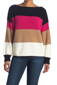 French Connection Millie Mozart Stripe Knit Sweate