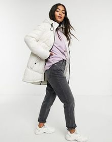Brave Soul cello mid length puffer jacket