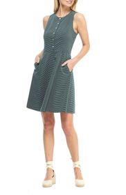 Gal Meets Glam Sleeveless Jacquard Fit & Flare Dre
