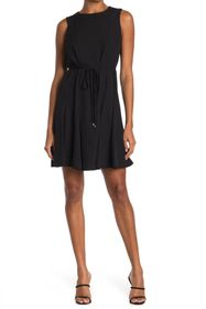 Tommy Hilfiger Sleeveless Tie Waist Fit & Flare Dr