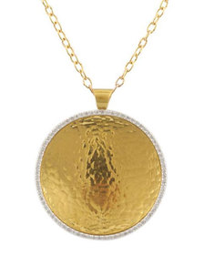 Gurhan Hourglass Pendant Necklace In 24k Gold