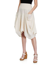 Neiman Marcus Linen Bubble Skirt