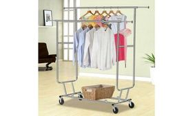 Heavy Duty Clothing Cloth Garment Collapsible w/ R