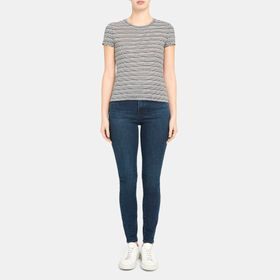 Tiny Tee in Striped Linen Jersey