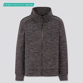 Kids Dry Stretch Sweat Full-Zip Blouson, Dark Gray