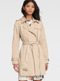 Donna Karan CROPPED TRENCH COAT