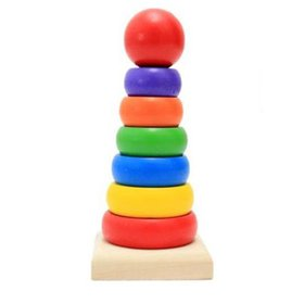 TureClos Wooden Stacking Ring Tower High Tower Bui