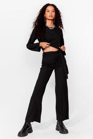 Nasty Gal Black Two Times the Charm Crop Top and W