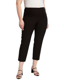 Neiman Marcus Plus Size Lisa Straight-Leg Ankle Pa