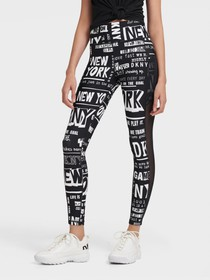 Donna Karan HIGH-RISE NEWSPAPER PRINT TIGHTS