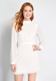 ModCloth ModCloth Made for Wowing Mini Dress White