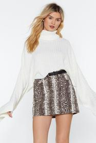 Nasty Gal Cream Call Knit a Day Oversized Sweater