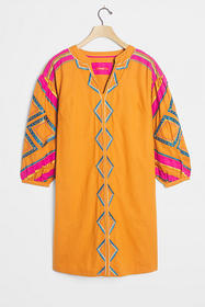 Anthropologie Stasiana Embroidered Tunic Dress