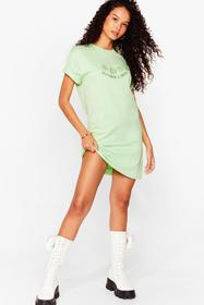 Nasty Gal Pistachio Mother Earth Graphic Tee Dress