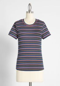 ModCloth ModCloth Top of The Line Striped Tee in N