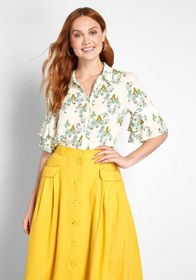 ModCloth ModCloth Ruffle and Ready Button-Up Top I