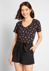 ModCloth ModCloth Packing Preserves Knit Top FLORA