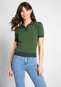Collectif Collectif Going Polo Short Sleeve Sweate