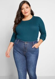 ModCloth ModCloth Rightly Ribbed Pullover Sweater