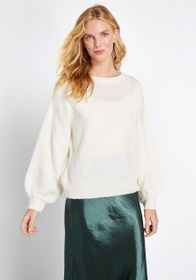 Just My Stripe Pullover Sweater in Ivory