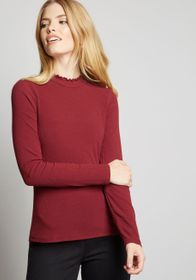 ModCloth ModCloth Admired Archivist Knit Top Burgu