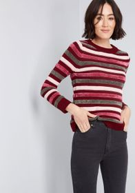 ModCloth ModCloth Duly Noticed Chenille Sweater Bu