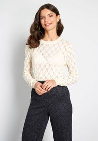 ModCloth ModCloth Looking Lively Textured Sweater
